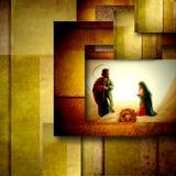 圣洁家庭圣诞卡 免版税库存照片