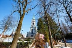 圣洁家庭教会,扎科帕内,波兰 库存图片