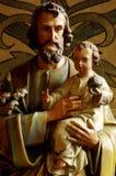 圣洁家庭约瑟夫和耶稣 免版税库存图片
