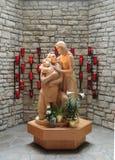 圣洁家庭雕象 库存图片