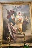 圣洁家庭-在大教堂,罗马的绘画 免版税库存图片