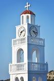圣洁寺庙在罗得岛 免版税库存图片