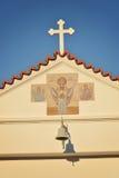 圣洁寺庙在罗得岛 免版税库存照片