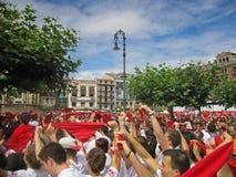 圣费尔明节日,潘普洛纳,西班牙 库存图片