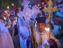 圣洁仪式埃赛俄比亚的火 免版税库存照片