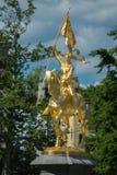 圣贞德雕象在费城 库存图片