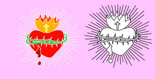 圣洁心脏 免版税库存图片