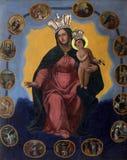 圣洁念珠的圣母玛丽亚女王/王后 免版税库存图片