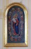 圣洁念珠的圣母玛丽亚女王/王后 图库摄影