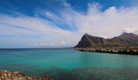 圣维托洛卡波海湾视图 库存照片