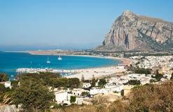 圣维托洛卡波镇在西西里岛 库存照片