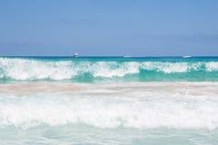 圣维托Lo品柱海滩的海 图库摄影