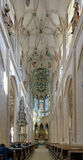 圣巴巴拉的教会内部在Kutna Hora 免版税库存照片