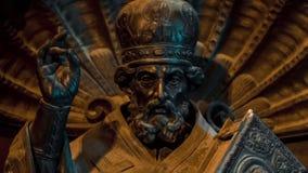 圣以撒` s大教堂装饰门  影视素材