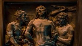 圣以撒` s大教堂装饰门  股票视频