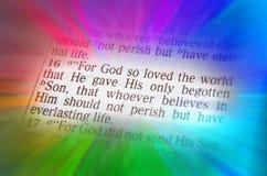 圣经文本-上帝如此爱世界-约翰3:16 免版税库存图片