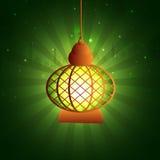 圣洁月赖买丹月Kareem庆祝的阿拉伯灯 免版税库存照片