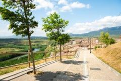 圣维森特de la sonsierra村庄,西班牙 免版税图库摄影