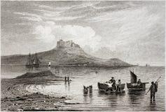 圣洁海岛城堡 库存图片