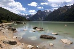 圣洁湖xinluhai 库存图片