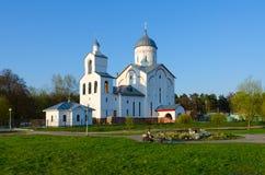 圣洁王子亚历山大・涅夫斯基,戈梅利,白俄罗斯教会  库存图片