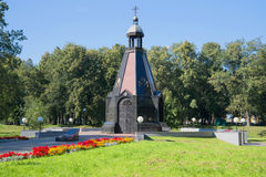 圣洁王子亚历山大・涅夫斯基-对死保卫他们的家园的Uglich人民的一座纪念碑的教堂 Uglich,俄罗斯 免版税库存图片