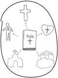 圣经的基本概念 向量例证