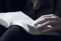 读圣经的妇女 免版税库存照片