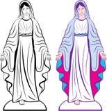 圣洁的贞女教母传染媒介 皇族释放例证