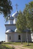 圣洁的贞女的做法的大教堂在Belozersk镇  免版税图库摄影