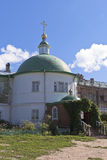 圣洁的贞女的调解的教会在Voskresensky Goritsky修道院沃洛格达州地区 库存图片