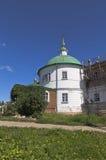 圣洁的贞女的调解的教会在Voskresensky Goritsky修道院沃洛格达州地区 免版税库存图片