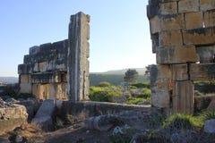 圣经的Kedesh古城废墟在以色列 免版税库存照片
