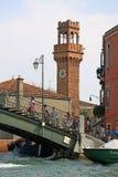 圣贾科莫钟楼在Murano海岛上的 意大利威尼斯 库存照片