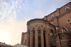 圣贾科莫dell'Orio外部  免版税库存照片