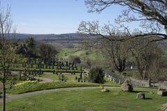 圣洁简陋的坟园的教会-苏格兰 免版税图库摄影