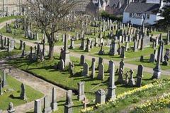 圣洁简陋的坟园的教会-苏格兰 免版税库存图片