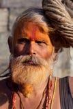 圣洁者尼泊尔sadhu 免版税库存图片