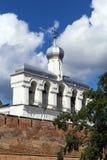 圣索菲娅大教堂, Veliky诺夫哥罗德钟楼  库存照片