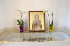 圣索菲娅象公正,在她的Theotokos诞生的修道院的教堂里在Kleisoura,希腊 库存照片