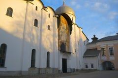 圣索菲娅& x28大教堂; God& x29圣洁智慧; Veliky 11月 免版税库存照片