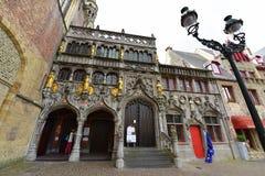 圣洁血液的大教堂著名为安置小玻璃瓶声称包含与基督的血液的一块布料 免版税图库摄影