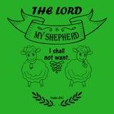 圣经诗歌阁下是我的牧羊人 免版税库存照片