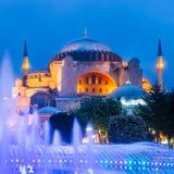 圣索非亚大教堂、清真寺和博物馆在伊斯坦布尔,土耳其。 库存照片