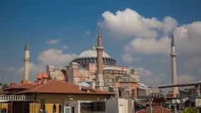 圣索非亚大教堂、清真寺和博物馆,基督徒大教堂,在Sultanahmet公园在伊斯坦布尔,土耳其 免版税库存照片