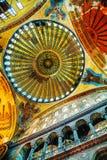圣索非亚大教堂内部在伊斯坦布尔,土耳其 库存照片
