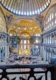 圣索非亚大教堂内部,伊斯坦布尔,土耳其 库存图片