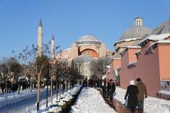 圣索非亚大教堂博物馆在伊斯坦布尔市,土耳其 免版税库存照片