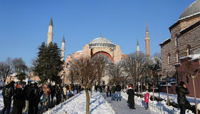 圣索非亚大教堂博物馆在伊斯坦布尔市,土耳其 库存照片