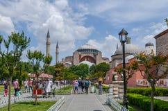 圣索非亚大教堂博物馆,伊斯坦布尔土耳其 免版税库存图片